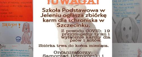 Zbiórka karmy dla schroniska w Szczecinku