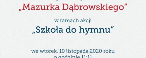 """Dyplom – """"Szkoła do hymnu"""""""