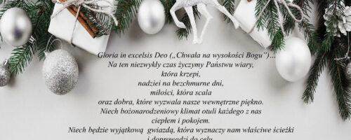 Świąteczne życzenia na Boże Narodzenie